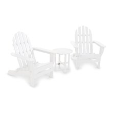 Classic 3 Piece Folding Adirondack Seating Group