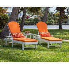 South Beach 3 Piece Chaise Lounge Seating Group