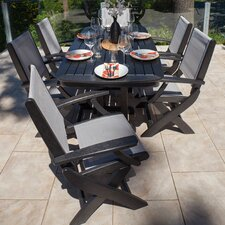 <strong>POLYWOOD®</strong> Coastal 7 Piece Dining Set
