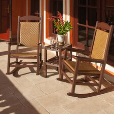 <strong>POLYWOOD®</strong> Presidential Woven 3 Piece Rocker Seating Group