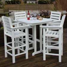 <strong>POLYWOOD®</strong> Captain 5 Piece Bar Height Dining Set