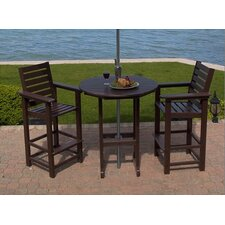 <strong>POLYWOOD®</strong> Captain 3 Piece Bar Height Dining Set