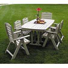 <strong>POLYWOOD®</strong> Nautical Casual 7 Piece Dining Set