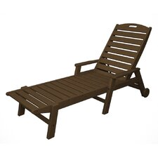 Nautical Wheel Chaise Lounge with Arms