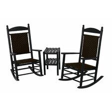 <strong>POLYWOOD®</strong> Jefferson 3 Piece Woven Rocker Set
