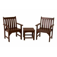 <strong>POLYWOOD®</strong> Vineyard 3 Piece Garden Chair Set