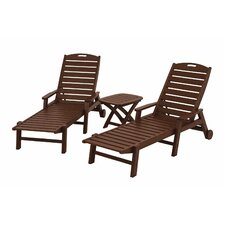 <strong>POLYWOOD®</strong> Nautical 3 Piece Chaise Set