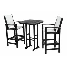 <strong>POLYWOOD®</strong> Coastal 3 Piece Bar Chair Set