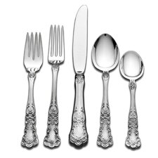 Gorham Buttercup 66 Piece Dinner Flatware Set with Pie Server