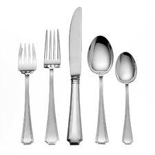Sterling Silver Groham Fairfax 66 Piece Dinner Flatware Set