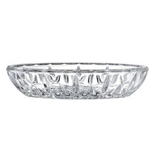 "<strong>Gorham</strong> Lady Anne Crystal Oval 6.75"" Candy Dish"