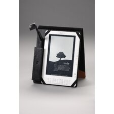Flip Case with Light for Kindle DX in Black/Tan