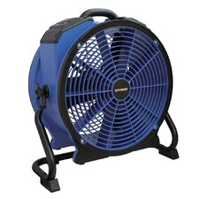 Professional HI-TEMP Axial Fan with Built-In Power Outlets and 3-Hour Timer