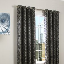 Ikat Grommet Window Curtain Single Panel