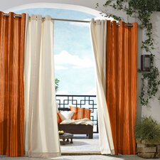 Outdoor Décor Gazebo Outdoor Stripe Grommet Top Curtain Single Panel