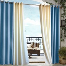 Outdoor Décor Gazebo Outdoor Solid Grommet Top Curtain Single Panel