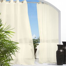 Outdoor Décor Escape Outdoor Sheer Grommet Curtain Single Panel