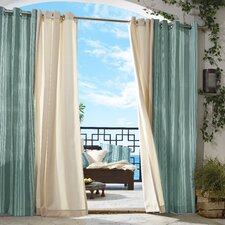 Outdoor Décor Stripe Grommet Curtain Single Panel