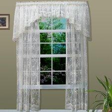Rod Pocket Bridal Lace Curtain Single Panel
