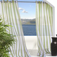 Outdoor Décor Escape Outdoor Sheer Stripe Grommet Top Curtain Single Panel