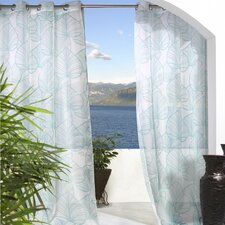 <strong>Commonwealth Home Fashions</strong> Outdoor Décor Biscayne Banana Leaf Grommet Curtain Single Panel