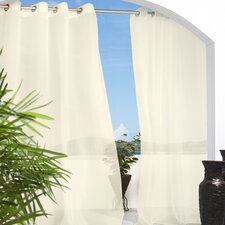 Cote d Azure Grommet Top Semi Curtain Single Panel