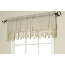 Macramé Rod Pocket Scalloped Curtain Valance