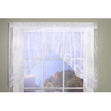 Bridal Lace Hem Rod Pocket Swag Curtain Valance