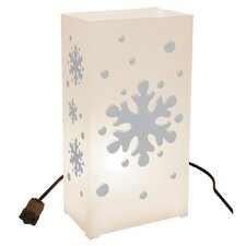 10 Count Electric Luminary Kit with Snowflake Design