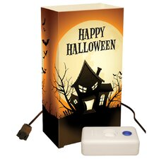 Haunted House Electric Luminaria Kit with LumaBases (Set of 10)