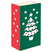 Christmas Tree Luminaria Bags (Set of 24)