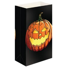 Jack O' Lantern Luminaria Bags (Set of 24)