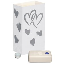 Hearts Candle Luminaria Kit (Set of 12)