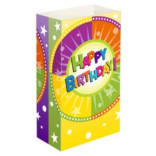 <strong>Luminarias</strong> Happy Birthday Luminaria Bags (Set of 24)