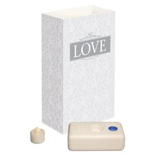 <strong>Luminarias</strong> Love Battery Operated Luminaria Kit (Set of 12)