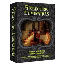 Electric Pumpkin Luminaria Kit (Set of 5)