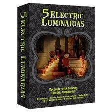 Electric Pumpkin Luminaria Kit (Set of 5)
