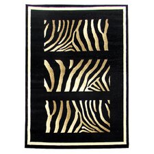 Tiffany Black Animal Print Rug