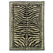 Kingdom Beige Animal Skin Print Rug