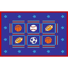 Paradise Design Sports Package Kids Rug