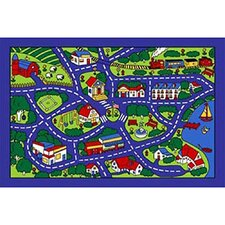 728649749295Paradise Design Street Map Kids Rug