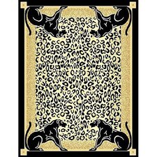 African Adventure Panther Border Area Rug
