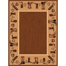 <strong>DonnieAnn Company</strong> Lodge Design Boots Novelty Rug