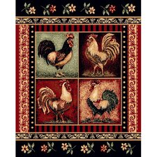 Lodge Design Rooster Novelty Rug