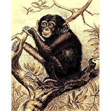 African Adventure Chimpanzee Novelty Rug