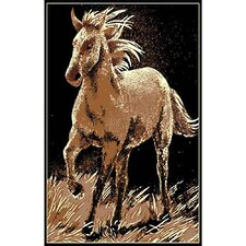 African Adventure Running Horse Novelty Rug
