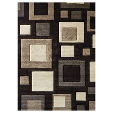 Studio 601 Chocolate Geometric Design Rug