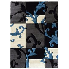 Studio 602 Charcoal Floral Area Rug