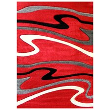 Studio 603 Red Wave Area Rug
