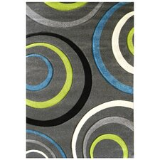 Studio 605 Charcoal Geometric Area Rug
